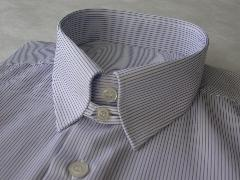 chemise sur mesure avec un col anglais.